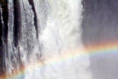 Victoria Falls с радугой на воде Стоковые Фото