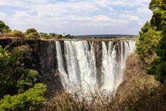 Victoria Falls с туманом от воды Стоковая Фотография