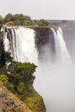 Victoria Falls с туманом от воды Стоковые Изображения RF