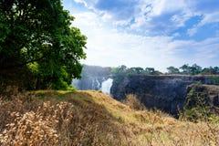 Victoria Falls с туманом от воды Стоковые Фотографии RF
