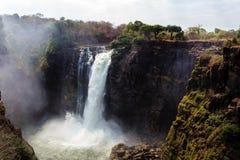Victoria Falls с туманом от воды Стоковое Фото