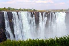 Victoria Falls с туманом от воды Стоковая Фотография RF