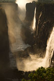 Victoria Falls. (Vic waterfall), Livingstone, Zambia. Soft focus stock image