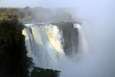 Victoria Falls. View of the Main Falls of Victoria Falls, Zimbabwe Royalty Free Stock Image