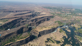 Victoria Falls from above in October royalty free stock images