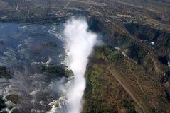 Victoria Falls Aerial. Victoria Fall Aerial, in Zimbabwe Stock Photo