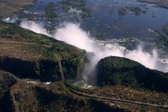 Victoria Falls Aerial Royalty Free Stock Photo