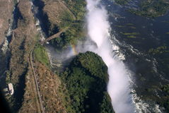 Victoria Falls Aerial. Victoria Fall Aerial, in Zimbabwe Stock Images