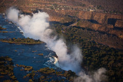 Victoria Falls Aerial Stock Photo