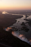 Victoria Falls Aerial Stock Images