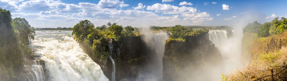 Victoria Falls Africa. Victoria Falls waterfall in Africa, between Zambia and Zimbabwe, one of the seven wonders of the world Stock Images