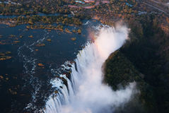 Victoria Falls antenn Royaltyfria Foton