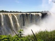 Victoria Falls au Zimbabwe Photographie stock libre de droits