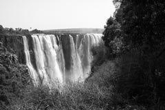 Victoria Falls B&W, Sydafrika - 11/2013 Arkivbilder