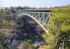 Victoria Falls Bridge between Zambia & Zimbabwe Stock Images