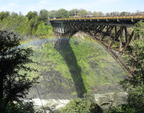 Victoria Falls bridge Stock Images