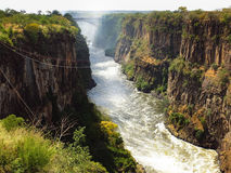 Victoria Falls Bridge. Zimbabwe and Zambia border Royalty Free Stock Photography