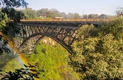 Victoria Falls bro Arkivfoto