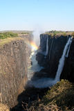 Victoria Falls com arco-íris Fotos de Stock Royalty Free