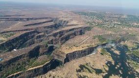 Victoria Falls de ci-dessus en octobre images libres de droits