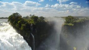 Victoria Falls Devils Cataract almacen de metraje de vídeo