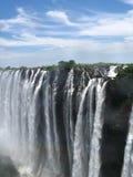 Victoria Falls an einem schönen Tag Stockfoto