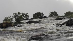Victoria Falls el río Zambezi Imagen de archivo