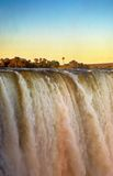 Victoria Falls en la puesta del sol Imagenes de archivo
