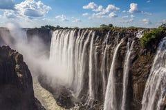 Victoria Falls en Zambie Photo stock