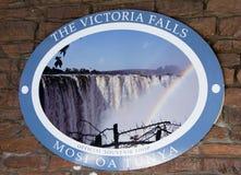 Victoria Falls Entrance Signage Royalty Free Stock Photo