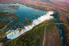 Victoria Falls från luften Royaltyfria Foton