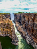 Victoria falls gorge Royalty Free Stock Photo