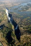 Victoria Falls, helicopter view royalty free stock photo