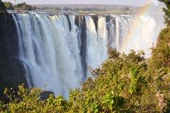 Victoria Falls i Botswana, Afrika Royaltyfri Fotografi