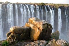 Victoria Falls i Botswana, Afrika Royaltyfria Bilder