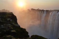 Victoria Falls i Botswana, Afrika Arkivbild