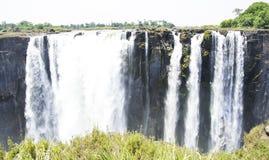 Victoria Falls i Zimbabwe Arkivbilder