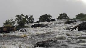 Victoria Falls la rivière Zambesi Image stock