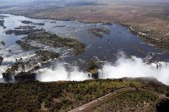 Victoria Falls - le Zimbabwe Photographie stock