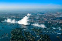 Victoria Falls Livingstone Zambia - 7 meraviglie del mondo fotografia stock libera da diritti