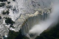 Victoria Falls. Lo Zambia fotografia stock