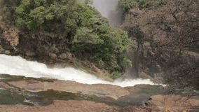 The Victoria falls with mist from water stock video footage