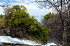 The Victoria falls with mist from water Stock Photo