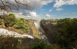 Victoria Falls nello Zimbabwe fotografia stock libera da diritti