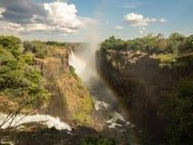 Victoria Falls nello Zimbabwe fotografie stock
