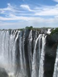 Victoria Falls on a nice day Stock Photo