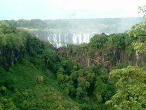 Victoria Falls no fundo Imagens de Stock
