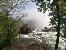 Victoria Falls, o começo Imagens de Stock Royalty Free
