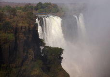 Victoria Falls op de Zambezi Rivier Royalty-vrije Stock Foto's