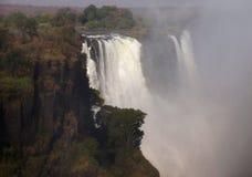 Victoria Falls på Zambeziet River Royaltyfria Foton